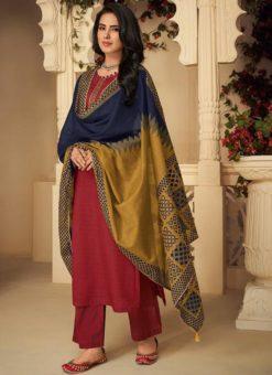 Buy Designer Pure Jam Silk Cotton Party Wear Salwar Suit
