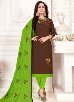 Party Wear Designer Cotton Churidar Suit