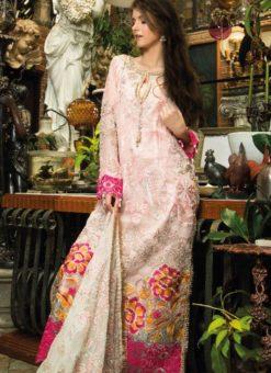 Peach Cambric Cotton Pakistani Suits