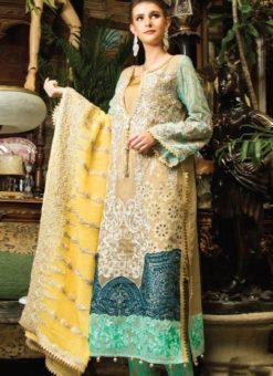 Beige Cambric Cotton Pakistani Suits