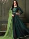 Green Silk Embroidered Designer Anarkali Suit