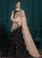 Designer Black Georgette Wedding Lehenga Choli
