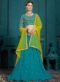 Designer Wedding Embroidery Yellow Soft Net Lahengha Choli