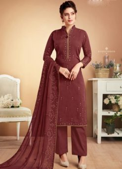 Designer Party Wear Georgette Embroidered Palazzo Suit