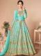 Wonderful Beige Silk Embroidered Work Designer Anarkali Suit