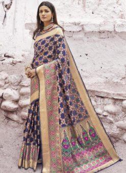 Designer Classic Wear Patola Silk Saree Online