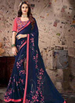 Designer Casual Wear Tussar Silk Saree