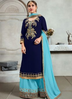 Lovley Trendy Party Wear Palazzo Salwar Kameez