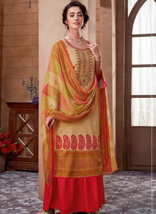 Multicolor Cotton Digital Printed Casual Wear Salwar Kameez