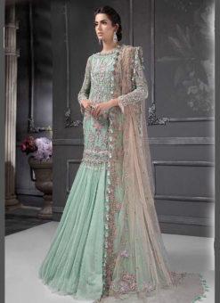 Designer Heavy Net Green Party Wear Pakistani Suit