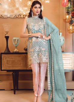 Designer Pakistani Style Pink Bridal Wear Salwar Suit