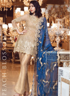 Designer Pakistani Style Gold Bridal Wear Salwar Suit
