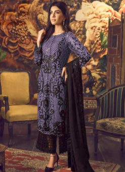 Pretty Blue Georgette Cut Work Designer Palazzo Suit