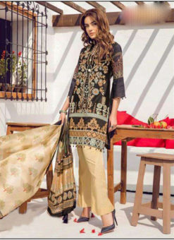 Elegant Grey Lawn Designer Pakistani Suit