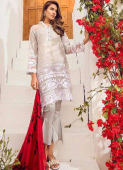 Lovely White Lawn Designer Pakistani Suit