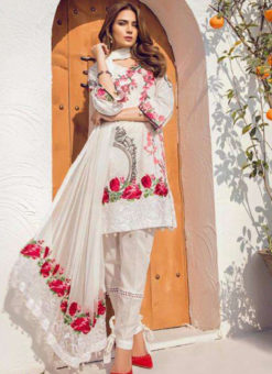 Amazing White Lawn Designer Pakistani Suit