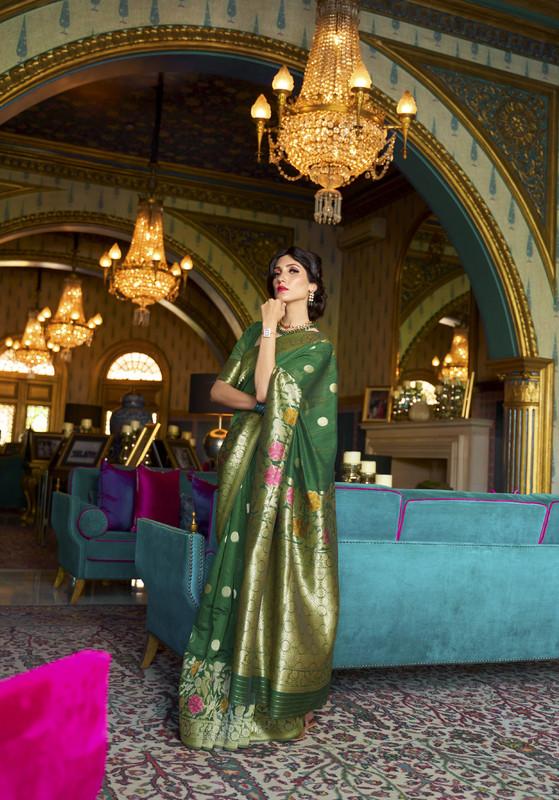 Miraamall Silk Saree Collection From Rajtex Green And Elegent