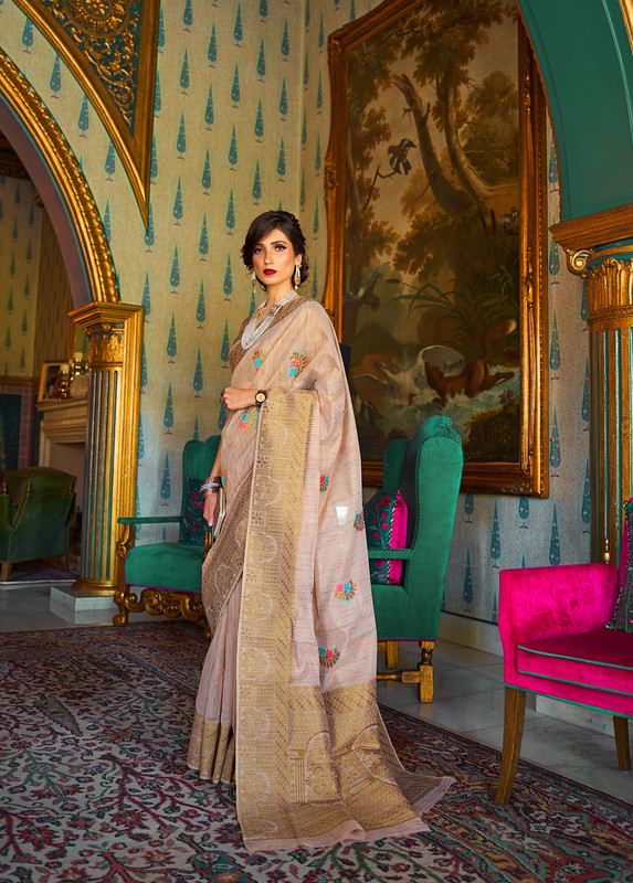 Miraamall Silk Saree Collection From Rajtex Multi Color And Graceful