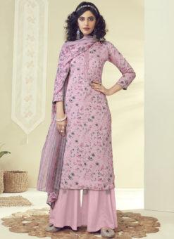 Latest Designer Pink Pure Zam Cotton Salwar Suit