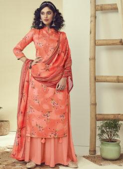 Latest Designer Orange Pure Zam Cotton Salwar Suit
