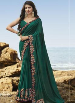 Amazing Green Art Silk Party Wear Saree