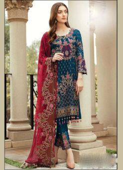 Partywear Rama Faux Georgette Designer Pakistani Salwar Suit