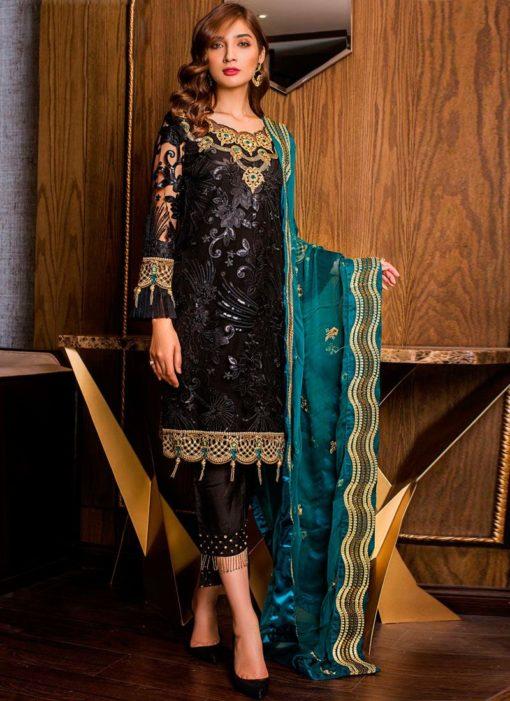 Attractive Embroidered Net Designer Pakistani Salwar Suit
