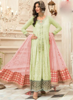 Excellence Green Georgette Designer Anarkali Salwar Suit