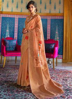 Fanciable Pink Silk Designer Traditional Saree