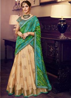 Green Silk Embroidered Work Designer Lehenga Choli