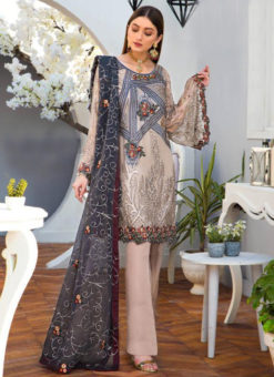 Lovely Beige Georgette Designer Pakistani Suits