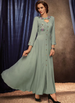 Designer Party Wear Heavy Reyon Long Kurti