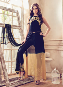 Blue Georgette Designer Embroidered Work Party Wear Pakistani Suit