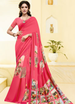 Printed Designer Casual Wear Georgette Saree