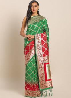 Latest Designer Party Wear Banarasi Silk Saree
