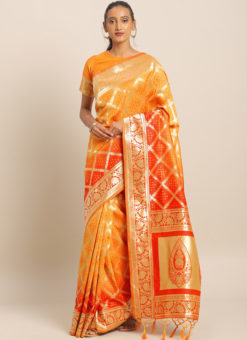 Latest Designer Party Wear Banarasi Silk Saree