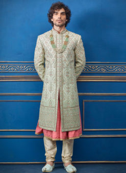 Readymade Heavy Wedding Wear Sherwani