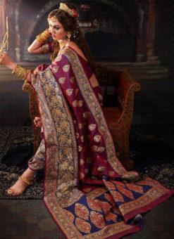 Amazing Falsa Banarasi Silk Zari Weaving Designer Wedding Saree