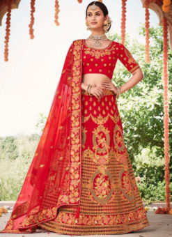 Heavy Designer Bridal Wedding Wear Silk Lehenga Choli
