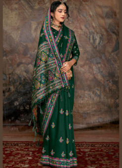 Designer Party Wear Banarasi Silk  Thread Weaving Traditional Saree