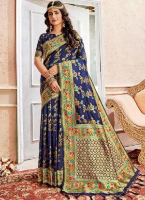 Latest Banarasi Silk Wedding Wear Designer Saree
