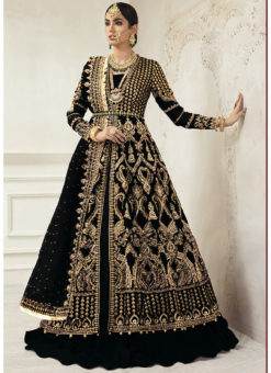 Designer Heavy Net Embroidered Work Bridal Wear Salwar Suit