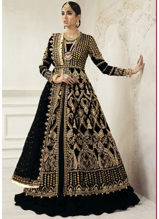 Designer Heavy Net Embroidered Work Bridal Wear Salwar Suit