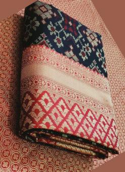 Elegant Black Silk Thread Weaving Traditional Designer Saree