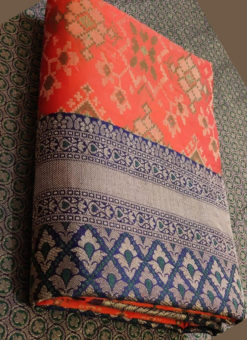 Charming Orange Silk Thread Weaving Traditional Designer Saree