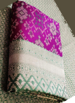 Beautiful Purple Silk Thread Weaving Traditional Designer Saree