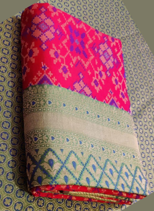 Classic Rani Silk Thread Weaving Traditional Designer Saree