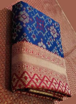 Elegant Royale Blue Silk Thread Weaving Traditional Designer Saree