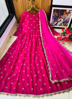 Georgette Embroidered Work Front & Back Rani Designer Gown