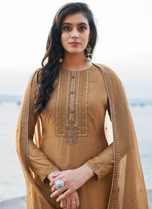 White Cotton Silk Handwork Party Wear Designer Salwar Suit